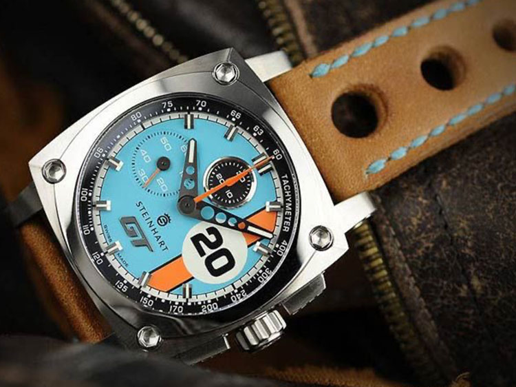 Cadrans de montres inspirés par la Compétition Automobile